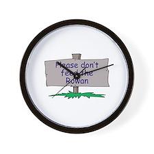 Please don't feed the Rowan Wall Clock