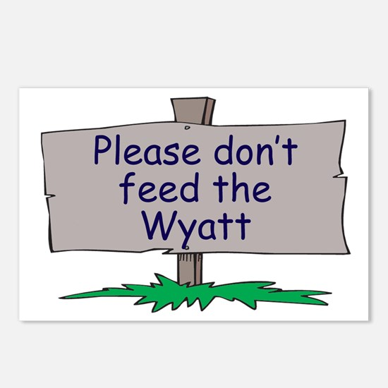 Please don't feed the Wyatt Postcards (Package of