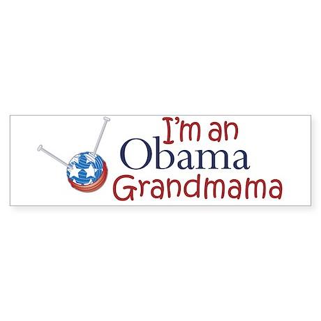I'm an Obama Grandmama Bumper Sticker