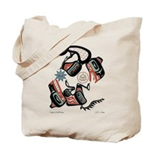 Eagle & Wolf Rising Tote Bag