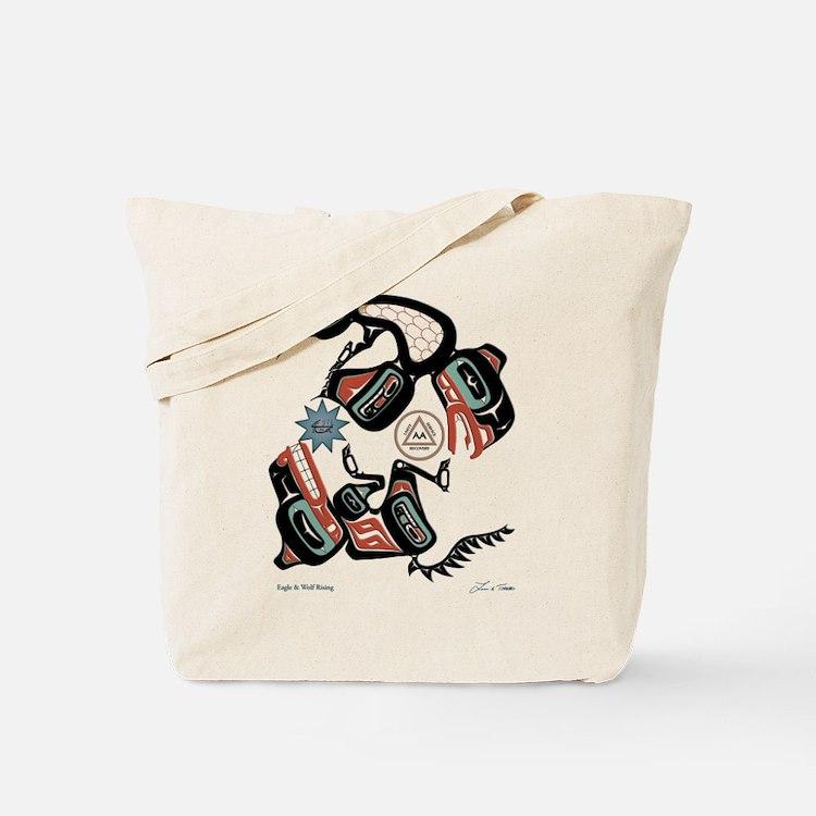 Eagle & Wolf Rising Tote Bag