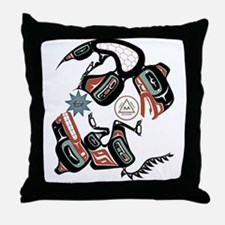 Eagle & Wolf Rising Throw Pillow