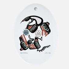 Eagle & Wolf Rising Oval Ornament