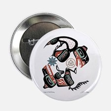 """Eagle & Wolf Rising 2.25"""" Button (10 pack"""