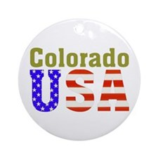 Colorado USA Ornament (Round)