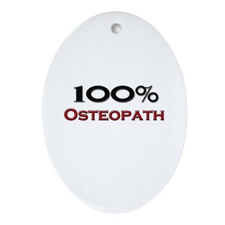 100 Percent Osteopath Oval Ornament