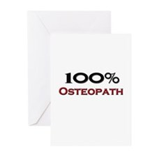 100 Percent Osteopath Greeting Cards (Pk of 10)