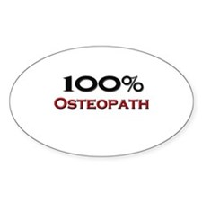 100 Percent Osteopath Oval Decal