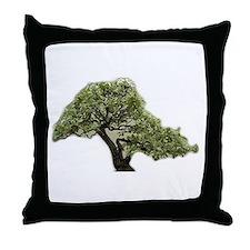 Bonsai Blossom Throw Pillow