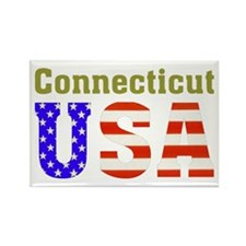 Connecticut USA Rectangle Magnet