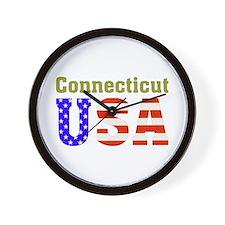 Connecticut USA Wall Clock