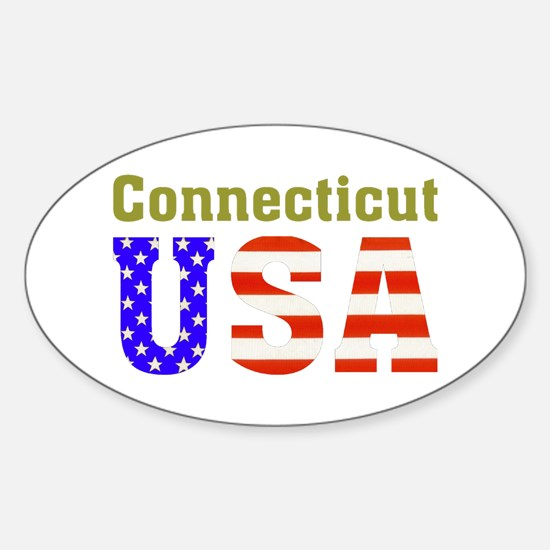 Connecticut USA Oval Decal