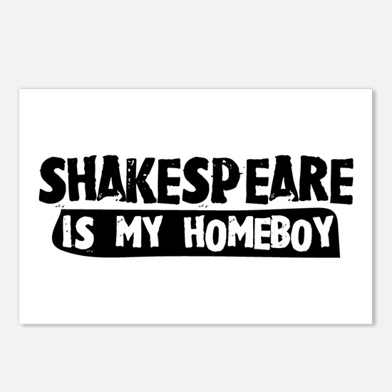 Shakespeare is my Homeboy Postcards (Package of 8)