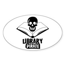 Library Pirate Oval Decal