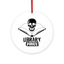 Library Pirate Ornament (Round)