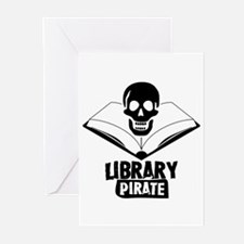 Library Pirate Greeting Cards (Pk of 10)