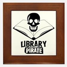 Library Pirate Framed Tile