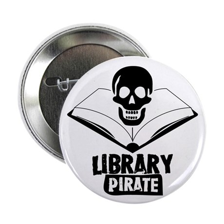 "Library Pirate 2.25"" Button"