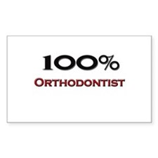 100 Percent Orthodontist Rectangle Decal