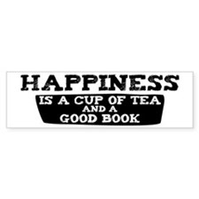 Tea & A Good Book Bumper Bumper Bumper Sticker