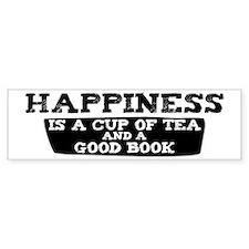 Tea & A Good Book Bumper Car Car Sticker