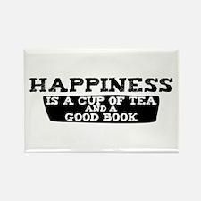 Tea & A Good Book Rectangle Magnet