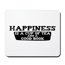 Tea & A Good Book Mousepad