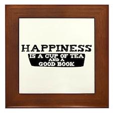 Tea & A Good Book Framed Tile