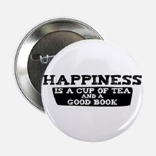 """Tea & A Good Book 2.25"""" Button"""
