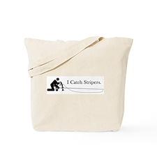 """""""I Catch Stripers"""" Tote Bag"""