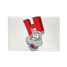 H Is For Hippopotamus Rectangle Magnet