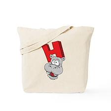 H Is For Hippopotamus Tote Bag