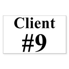I am Client #9 Rectangle Decal