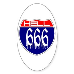 HELL ROUTE 666 Decal