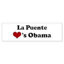 La Puente hearts Obama Bumper Bumper Sticker