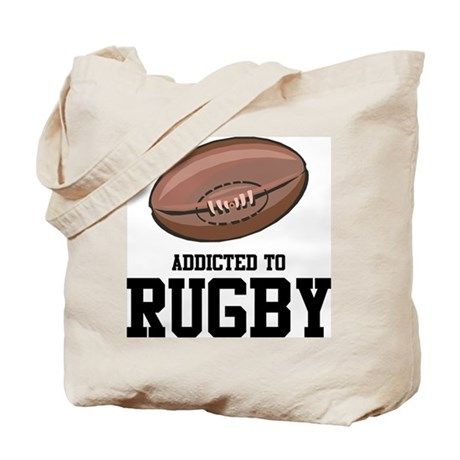 Addicted To Rugby Tote Bag