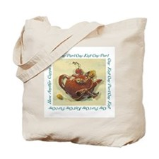 Knitting Teapot Tote Bag