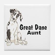 NH Pup GD Aunt Tile Coaster
