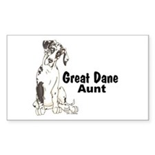 NH Pup GD Aunt Rectangle Decal