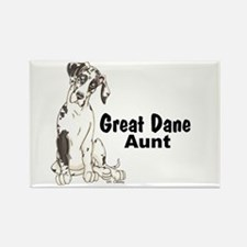 NH Pup GD Aunt Rectangle Magnet