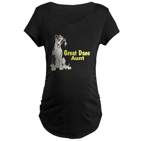 NH Pup GD Aunt Maternity Dark T-Shirt