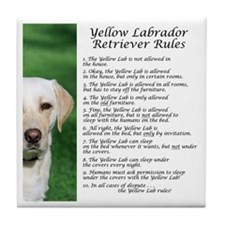 Yellow Lab Rules Tile Coaster