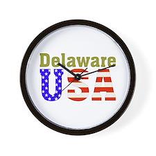 Delaware USA Wall Clock