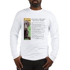 Chocolate Lab Rules Long Sleeve T-Shirt