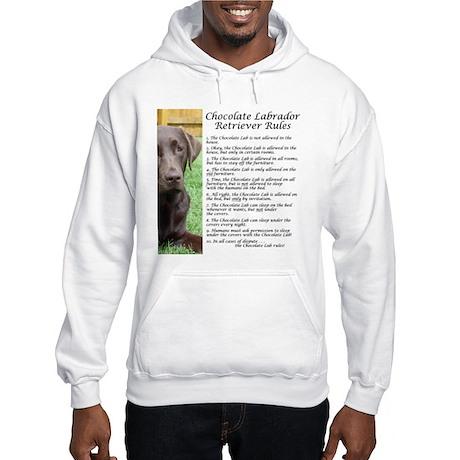 Chocolate Lab Rules Hooded Sweatshirt