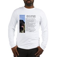 Black Lab Rules Long Sleeve T-Shirt
