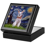 Starry Night / Min Schnauzer Keepsake Box