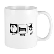 Eat. Sleep. Ski. Small Mugs