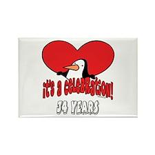 34th Celebration Rectangle Magnet