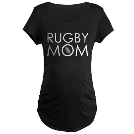 Rugby Mom Maternity Dark T-Shirt